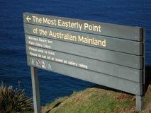 El punto más del Este del continente australiano fotos de archivo