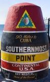 El punto más situado más al sur del EE. UU. continentales, Key West imagen de archivo
