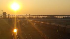El que está en el ferrocarril Foto de archivo