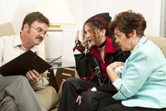 El quejarse al terapeuta Imagen de archivo libre de regalías