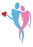 El querer del símbolo del amor Foto de archivo libre de regalías