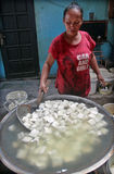 El queso de soja y la soja están procesando conocen quién acabada en la soja y el queso de soja fa Imagen de archivo libre de regalías