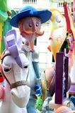 El Quijote ninot in Fallas of Alicante, 24 June 2.014 Stock Images