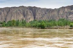 El río Amarillo Fotografía de archivo libre de regalías