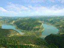 El río Amarillo, China Fotografía de archivo libre de regalías