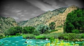 El río Arkansas Fotografía de archivo libre de regalías