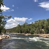 El río Arkansas cerca de Salida, CO fotos de archivo libres de regalías