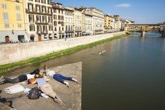 El río Arno de Florencia Foto de archivo