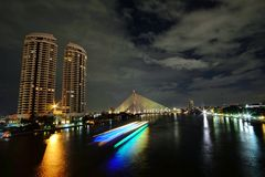 El río Chao Phraya Fotos de archivo