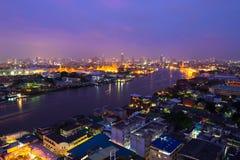 El río Chao Phraya Fotos de archivo libres de regalías