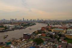 El río Chao Phraya Imagenes de archivo
