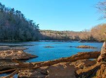 El río Chattahoochee fotos de archivo libres de regalías