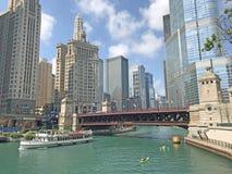 El río Chicago foto de archivo libre de regalías