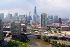 El río Chicago Fotografía de archivo