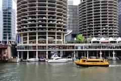 El río Chicago imágenes de archivo libres de regalías
