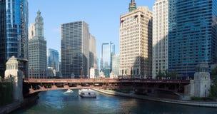 El río Chicago Fotos de archivo