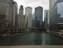 El río Chicago Imagen de archivo libre de regalías