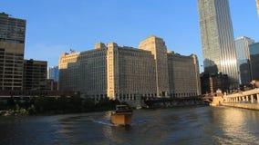 El río Chicago 3 almacen de video