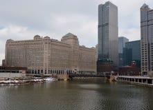 El río Chicago Foto de archivo