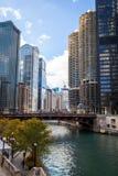 El río Chicago Imagen de archivo