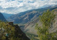 El río Chulyshman del valle Fotografía de archivo libre de regalías