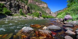 El río Colorado en el barranco de Glenwood Imagen de archivo libre de regalías