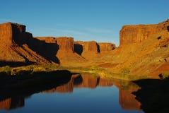 El río Colorado en la puesta del sol, Utah Fotografía de archivo