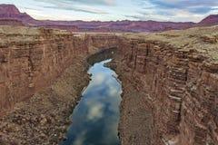 El río Colorado que atraviesa un barranco en Arizona imagen de archivo libre de regalías