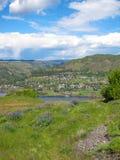 El río Columbia Una hermosa vista del punto de opinión del panaroma Foto de archivo