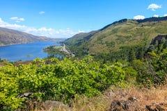 El río Columbia Una hermosa vista del punto de opinión del panaroma Fotografía de archivo