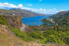 El río Columbia Una hermosa vista del punto de opinión del panaroma Imagen de archivo