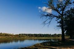 El río con una corriente reservada y las nubes reflejaron en ella, Soz, Foto de archivo