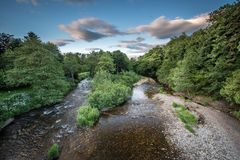 El río Coquet de Felton Bridge Imágenes de archivo libres de regalías