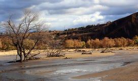 El río corre a través del prado de Ulan Buh Imágenes de archivo libres de regalías
