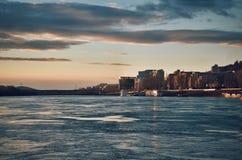 El río Danubio Fotografía de archivo libre de regalías