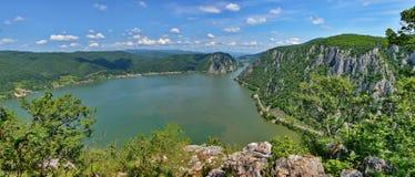 El río Danubio, Rumania fotografía de archivo