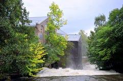 El río de Akerselva, Oslo, Noruega Imágenes de archivo libres de regalías