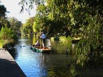 El río de Avon en Christchurch fotos de archivo libres de regalías