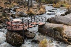 El río de Belakurikh en la caída Foto de archivo libre de regalías