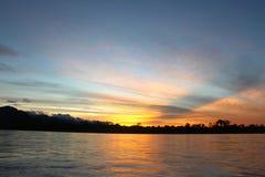 El río de Beni en puesta del sol foto de archivo libre de regalías