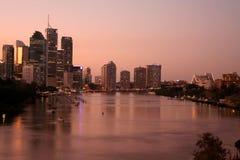 El río de Brisbane Imagen de archivo libre de regalías
