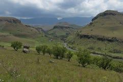 El río de Bushmans en reserva de naturaleza de Kwazulu Natal del castillo de Giants Fotografía de archivo libre de regalías