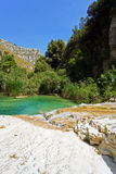 El río de Cavagrande en Sicilia Fotos de archivo libres de regalías