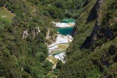 El río de Cavagrande en Sicilia Imagen de archivo libre de regalías