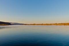 El río de Ergun en la última mañana del otoño Imágenes de archivo libres de regalías