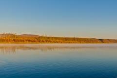 El río de Ergun en la última mañana del otoño Imagen de archivo libre de regalías
