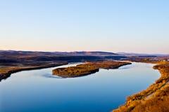 El río de Ergun en la puesta del sol Fotos de archivo libres de regalías