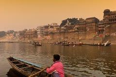 El río de Ganges. La India Foto de archivo libre de regalías