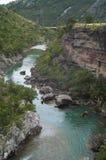 El río de la montaña en el barranco Fotografía de archivo libre de regalías