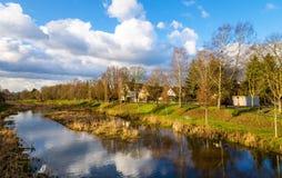 El río de Leine en Gottingen - Alemania Foto de archivo